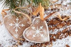 Décoration de Noël avec des cerfs Photographie stock libre de droits