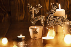 Décoration de Noël avec des cerfs communs Image stock