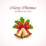 Décoration de Noël avec des cloches illustration stock