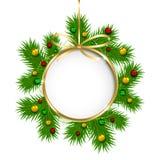 Décoration de Noël avec des perles illustration stock