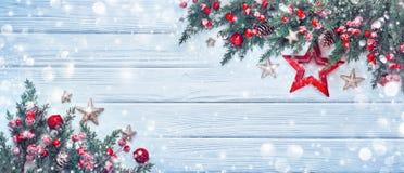 Décoration de Noël avec l'étoile Photo stock