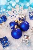 Décoration de Noël avec la neige Images libres de droits