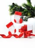 Décoration de Noël avec le cadeau image libre de droits