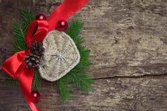 Décoration de Noël avec le coeur Photographie stock libre de droits