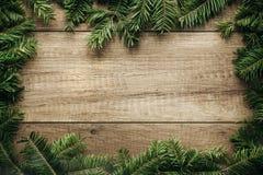 Décoration de Noël avec le fond en bois Images libres de droits
