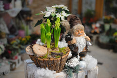 Décoration de Noël avec le père noël Photos stock