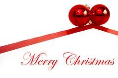 Décoration de Noël avec les billes rouges Images libres de droits