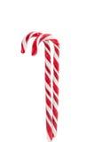 Décoration de Noël Canne de sucrerie traditionnelle de vacances d'isolement dessus Photographie stock