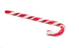 Décoration de Noël Canne de sucrerie traditionnelle de vacances d'isolement dessus Image libre de droits
