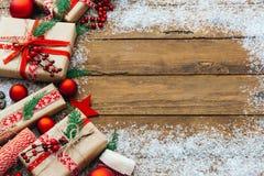 Décoration de Noël, concept de cadre photos libres de droits