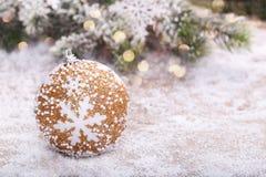 décoration de Noël d'or image libre de droits