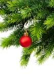Décoration de Noël d'isolement Images stock