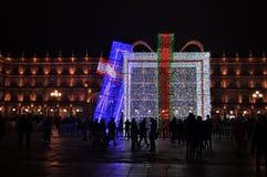Décoration de Noël dans la ville photo libre de droits