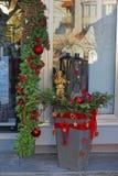 Décoration de Noël dans la ville de mauvais Ragaz Photographie stock libre de droits