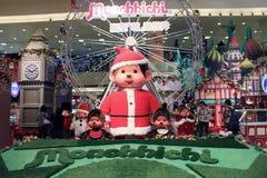 Décoration de Noël dans le centre commercial Image stock