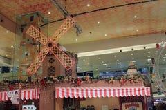 Décoration de Noël dans le centre commercial Photo libre de droits