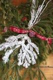 Décoration de Noël de branches d'arbre de Noël Photo stock