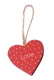 Décoration de Noël de coeur d'amour Images stock