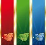 décoration de Noël de drapeaux illustration libre de droits