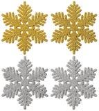Décoration de Noël de flocon de neige, flocon décoratif de neige de Noël Photographie stock