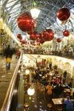2013, décoration de Noël de Londres, jardin de Covent Photo stock