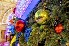 Décoration de Noël des arbres sur la place rouge à Moscou, Russie images libres de droits