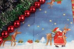Décoration de Noël des ornements et des jouets Photos libres de droits
