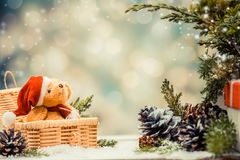 Décoration de Noël et d'an neuf Image libre de droits