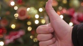 Décoration de Noël et d'an neuf Fond de vacances de Bokeh brouillé par résumé Guirlande de clignotement L'arbre de Noël allume le banque de vidéos