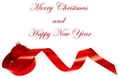 Décoration de Noël et une bille rouge Photo stock
