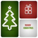 Décoration de Noël faite à partir du livre blanc Photographie stock libre de droits