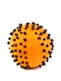 Décoration de Noël - orange avec des clous de girofle photo stock