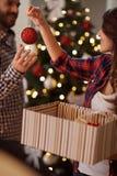 Décoration de Noël pour l'arbre de sapin, concept Images stock