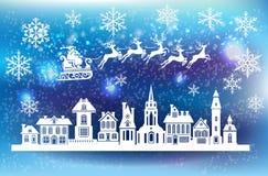 Décoration de Noël pour la fenêtre Photographie stock libre de droits