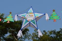 Décoration de Noël près d'église à Ahmedabad Photo stock