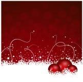 Décoration de Noël rouge et blanc Photographie stock
