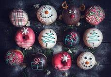 Décoration de Noël sur des butées toriques Photos libres de droits