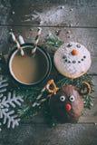 Décoration de Noël sur des butées toriques Photos stock