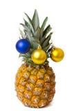 Décoration de Noël sur l'ananas Image libre de droits