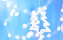 Décoration de Noël sur l'arbre photographie stock
