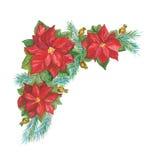 Décoration de Noël sur le blanc illustration libre de droits