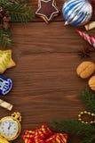 Décoration de Noël sur le bois Photo libre de droits
