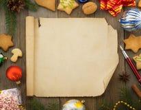 Décoration de Noël sur le bois Images libres de droits