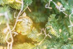 Décoration de Noël sur le fond abstrait pour des thèmes de Noël Photographie stock libre de droits