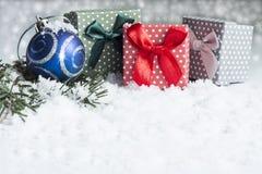 Décoration de Noël sur le fond blanc Photographie stock