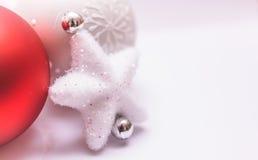 Décoration de Noël sur le fond blanc Photo stock
