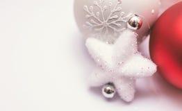 Décoration de Noël sur le fond blanc Images libres de droits