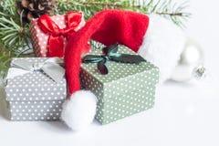 Décoration de Noël sur le fond blanc Images stock
