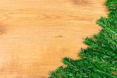 Décoration de Noël sur le fond en bois image libre de droits