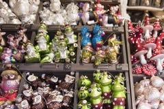 Décoration de Noël sur le marketl Image stock